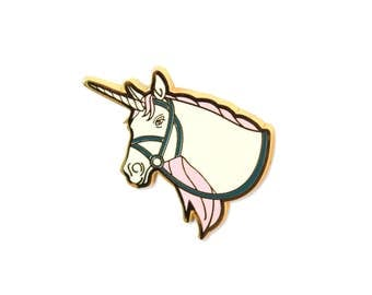 White Unicorn Enamel Pin - Unicorn Lapel Pin
