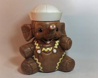 Elephant jar etsy - Vintage elephant cookie jar ...
