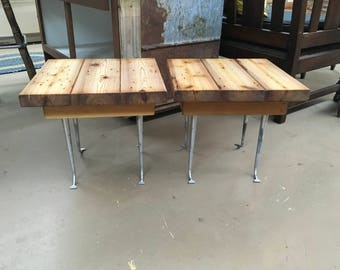 handmade wood end tables handmade cedar tables outdoor deck tables chrome leg tables