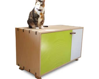 Cat Furniture / Cat Lover / Litter Box Enclosure / Litter Box Cover / Litter Box Cabinet / Dog Proof