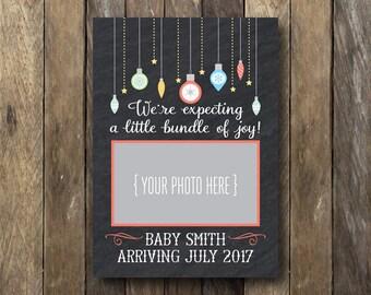 Christmas Pregnancy Announcement - Sonogram Announcement - Printable Pregnancy Announcement - Ultrasound Announcement