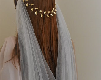 Gold leaf headband, gold leaf headpiece, gold leaf crown, gold leaf hairpiece, leaf crown, greek headband, greek headpiece, bridal headpice