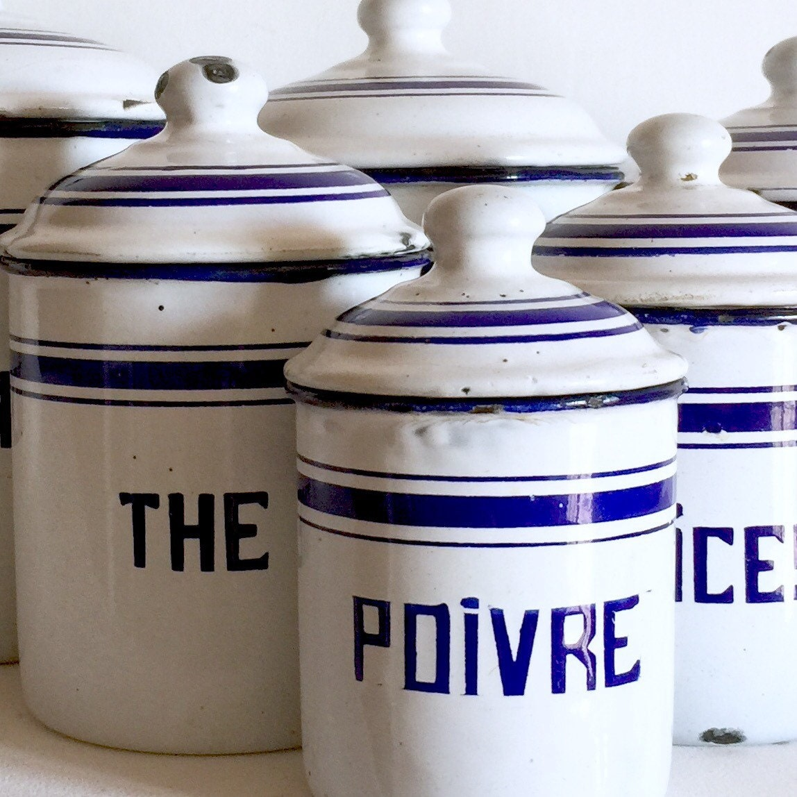 french antique enamel canisters french kitchen canisters