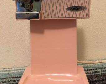 Mid Century Pink Sunbeam Electric Can Opener
