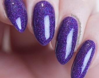 Dark Shines | Moonstone Nail Polish | indie nail polish, glitter, handmade, artisan