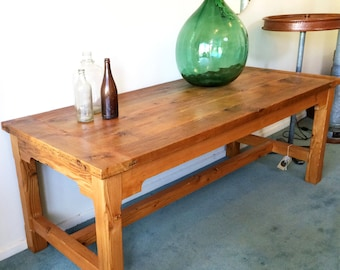 Oregon timber dining table - handmade from salvaged wood, reclaimed, up-cycled, recycled timber