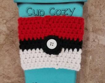 Pokeball Cup Cozy Crochet