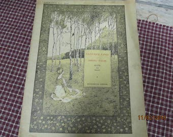 Vintage Gustave Lind Spring Tales Suite For Piano Sheet Music Book Augener London 1918