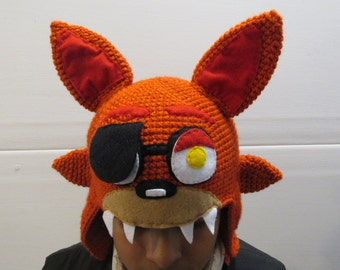 Super Cool Five Nights at Freddy's FNAF, FOXY  Inspired Knitted Hat, All Sizes