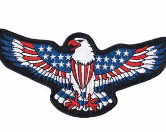 XL 20cm American Eagle USA Biker Motorcycle Patriot Patch