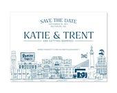 Save the Date | DIY Printable or Printed | 5x7 | Baltimore Skyline | Bmore Landmarks | Charm City Invitation | Save-the-Date | 5x7 | #365