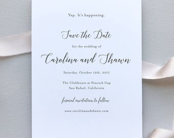 Wedding Save the Dates / Elegant Calligraphy Suite / #1129