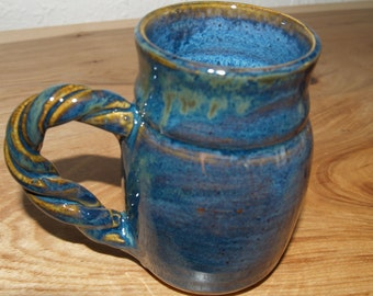 16 oz Wheel thrown high fire Stoneware mugs