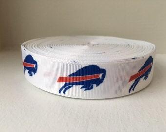 1/3/5/7/10 Yards Buffalo Bills 1 INCH Grosgrain Ribbon