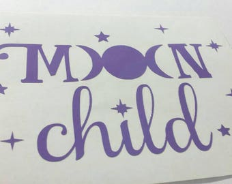 Moon Child decal car/cup/tumbler decal