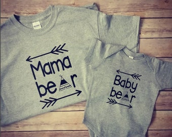 Mama Bear Baby Bear Shirts