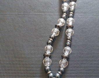 Hematite claw necklace