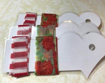 New SAMPLER, 2 Yards Washi Tape Sampler,Cards,Heart,Pink,Plaid,Craft,Scrapbook,Crafts,Journal,Decor,Kids Crafts