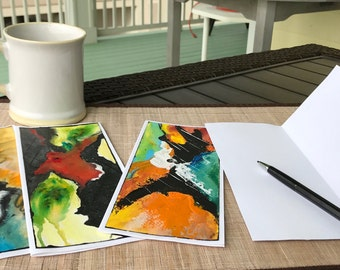 Original Abstract Art Notecards