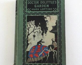 Hugh Lofting, Doctor Dolittles Garden, illustrated, 1st Edition 1st Printing 1927, publisher Frederick Stokes New York, Fantasy Vintage Book