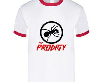 The Prodigy Band Electro Punk Mens Cotton Red Ringer T Shirts S To 3xl