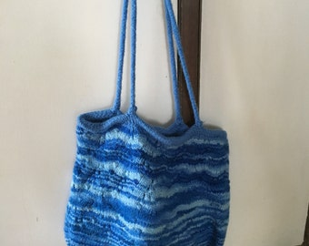 Large felted bag- blue