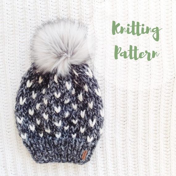 KNITTING PATTERN / / The Minnehaha Hat / / Fair Isle Knitting