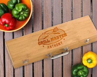 In Time for Christmas/Grilling Set/BBQ Set/Personalized/Father's Day Gift/Birthday/Grill Master