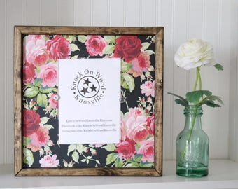 Floral Chalkboard 5x7 Frame, Rustic Floral Photo Frame, Black and Pink Frame, Floral Picture Frame, Wildflower 5x7 Picture Frame