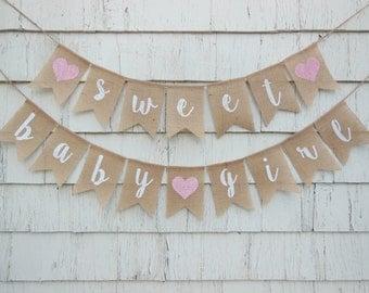 Sweet Baby Girl Banner, Baby Girl Shower Banner, Baby Girl Banner, Baby Girl