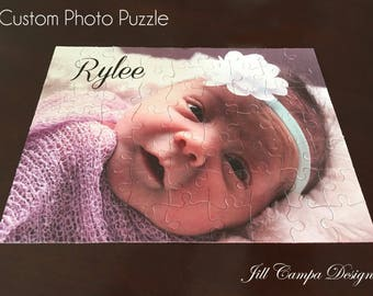 MOTHER'S DAY GIFT - Personalized Photo Puzzle with text - custom photo puzzle - custom picture puzzle - your photo on a jigsaw puzzle