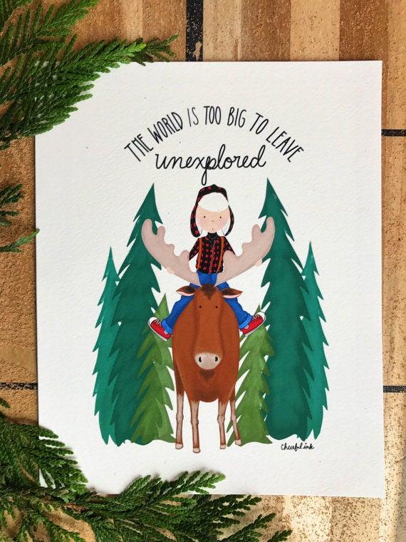 Moose Boy Adventure Card
