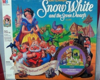 Disney's Snow White and the Seven Dwarfs Vintage Board Game, COMPLETE. Milton Bradley 1992. Disney Princess Game