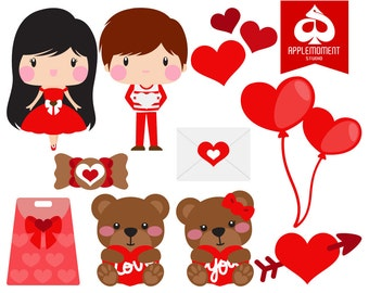 Valentine Digital Clipart for Personal and Commercial Use
