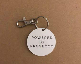 Powered By Prosecco Keyring