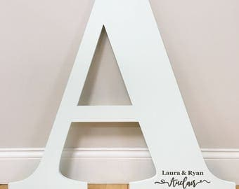 30 inch tall  wooden letter Wedding guest book alternative wall hanging wedding guest registry bridal shower gift