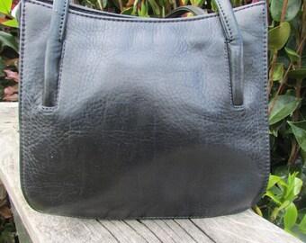 Navy blue Konev bag, real leather konev, navy Konev bag, navy top handle, navy leather Konev, genuine Konev navy, navy top handle, compact.