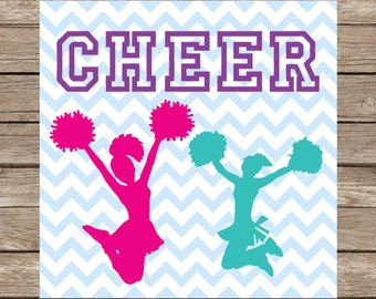 Cheerleader Svg Cheer Girl Svg Cheerleading Svg Cheer Cut Files Svg PNG Dxf Cricut & Silhouette Cameo Files
