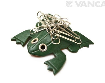Frog Leather Magnet Clip Holder *VANCA* Made in Japan #26251 Free Shipping