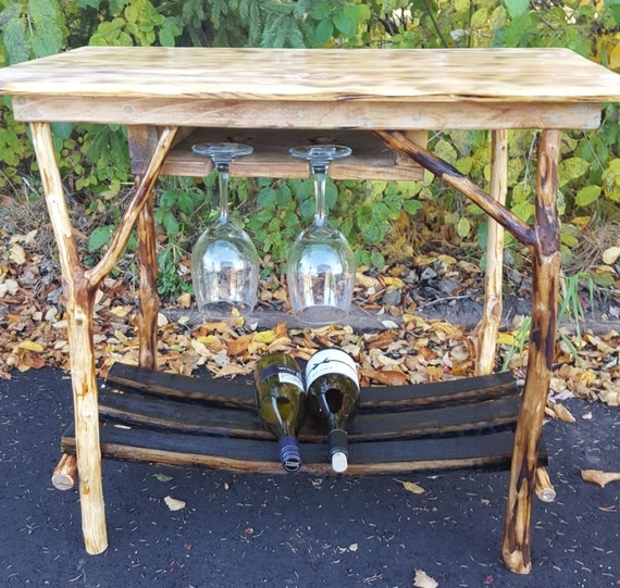 Cherry Wood - Barrel Stave Wine Table