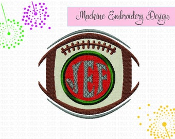 FOOTBALL, Applique', monogram frame, name frame,embroidery Design, digital embroidery, sports design, sports fan, applique', #840
