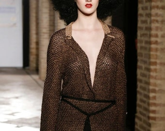 Fashion jacket  made in merino wool and viscose/ Chaqueta elaborada en lana merino y viscosa