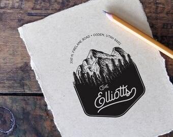Return Address Stamp - Custom Address Stamp, Typography Rubber Stamp, Hand Written Font, Wedding Gift, Gift