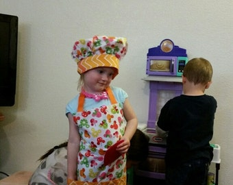 Child's Chef Apron and hat