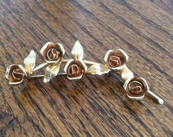 Lovely Vintage rose brooch