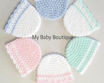 Dressy X n' O's Newborn Hat CROCHET PATTERN| Girls| Boys| Infant| Cute| Gift| Shower| Newborn| Hats