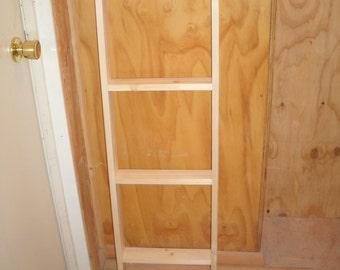 """47 1/2"""" LARGE wood ladder- blanket ladder-quilt ladder- wooden ladder-display ladder-unfinished blanket ladder- unfinished wood ladder"""