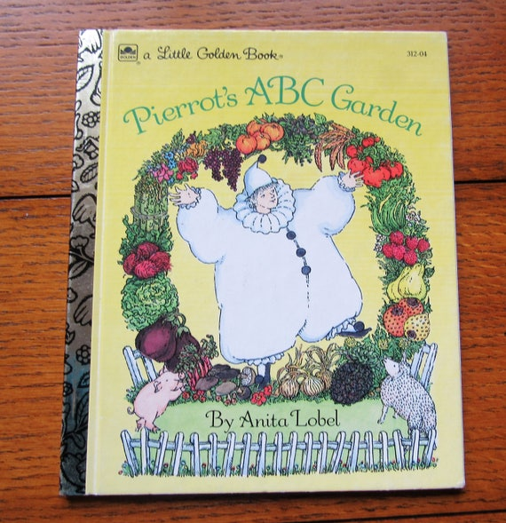 Pierrot's ABC Garden by Anita Lobel Little Golden Book 50th Anniversary Publication 1992