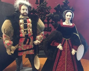 Set Of Two Brenda Price Dolls Henry The VIII And Anne Boleyn