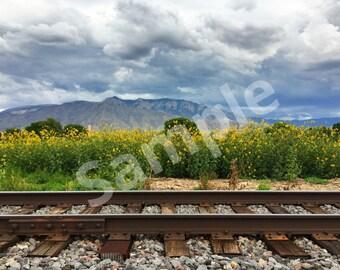 Train tracks in Bernalillo New Mexico